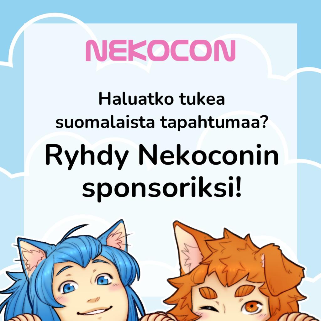 Sponsoriksi Nekoconille?
