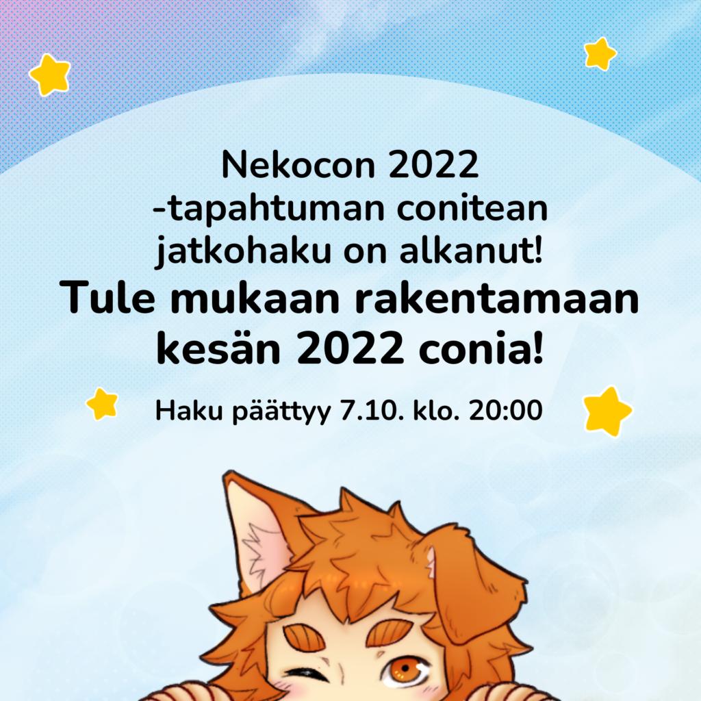 Nekocon 2022 -conitean jatkohaku